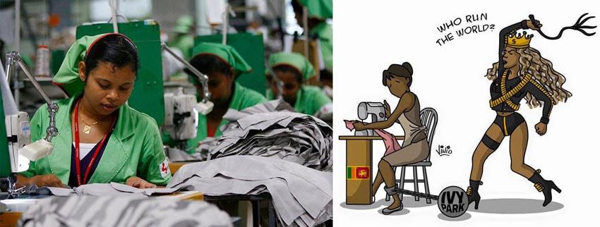 Linha de vestuário Ivy Park de Beyoncé abusa de trabalhadoras no Sri Lanka stylo urbano