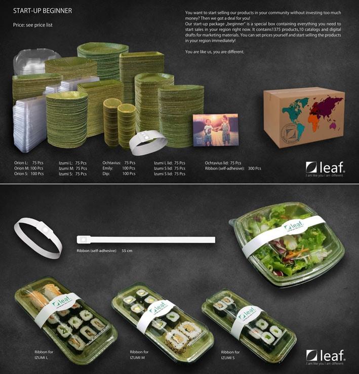 Leaf fabrica pratos descartáveis de folhas que são completamente biodegradáveis stylo urbano