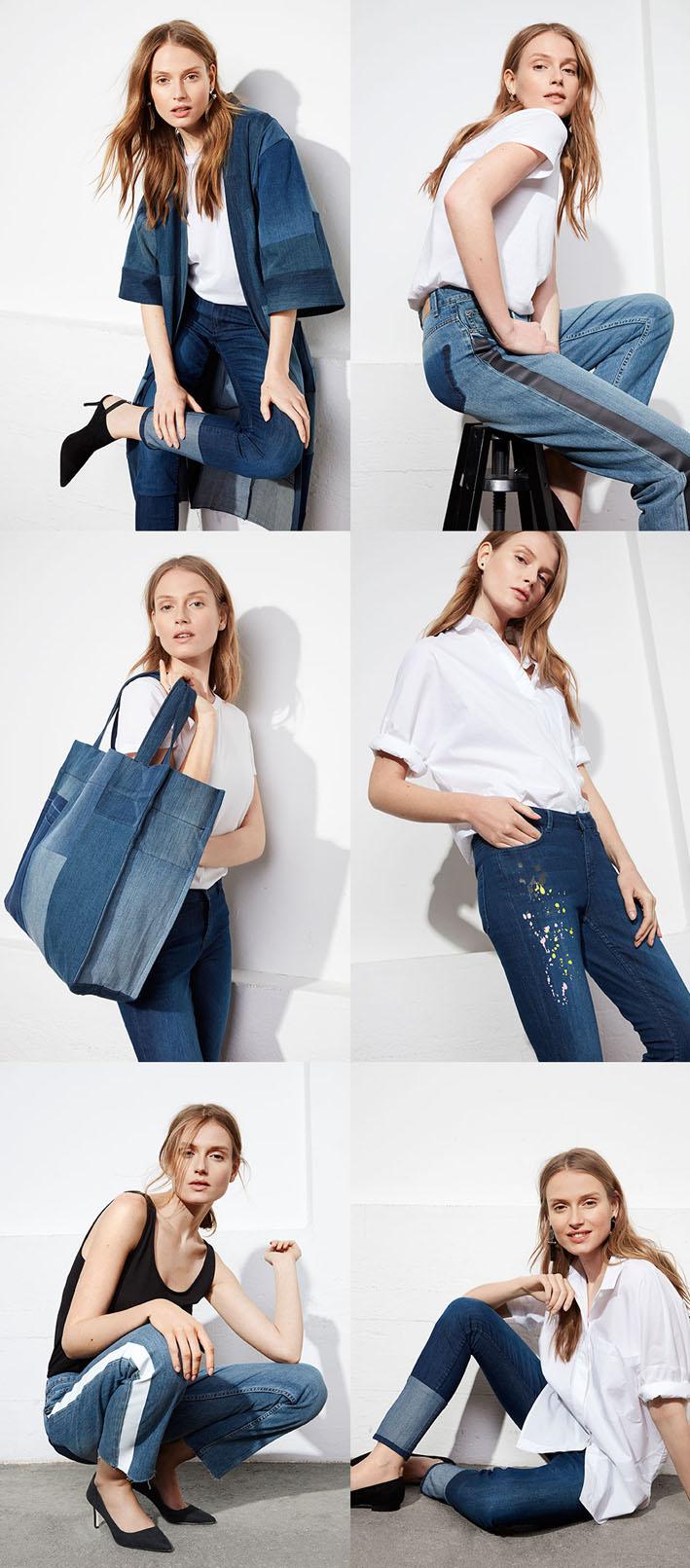 Lindex lança Re: Design - uma coleção cápsula de jeans upcycled stylo urbano