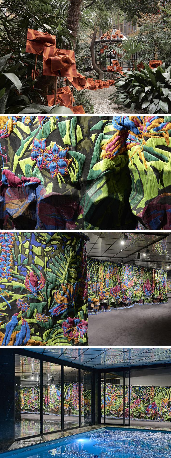 A exposição Gardening the Trash mostra tecidos de luxo feitos com resíduos  stylo urbano