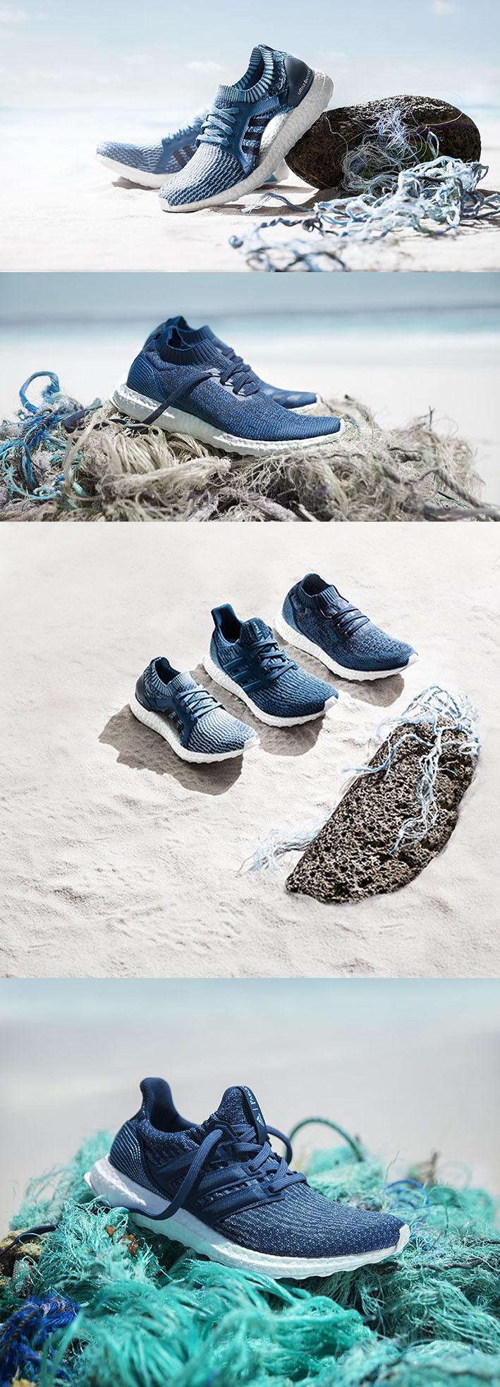 Adidas X Parley lança 3 novos modelos de tênis feitos dos resíduos plásticosretirados do Oceano stylo urbano