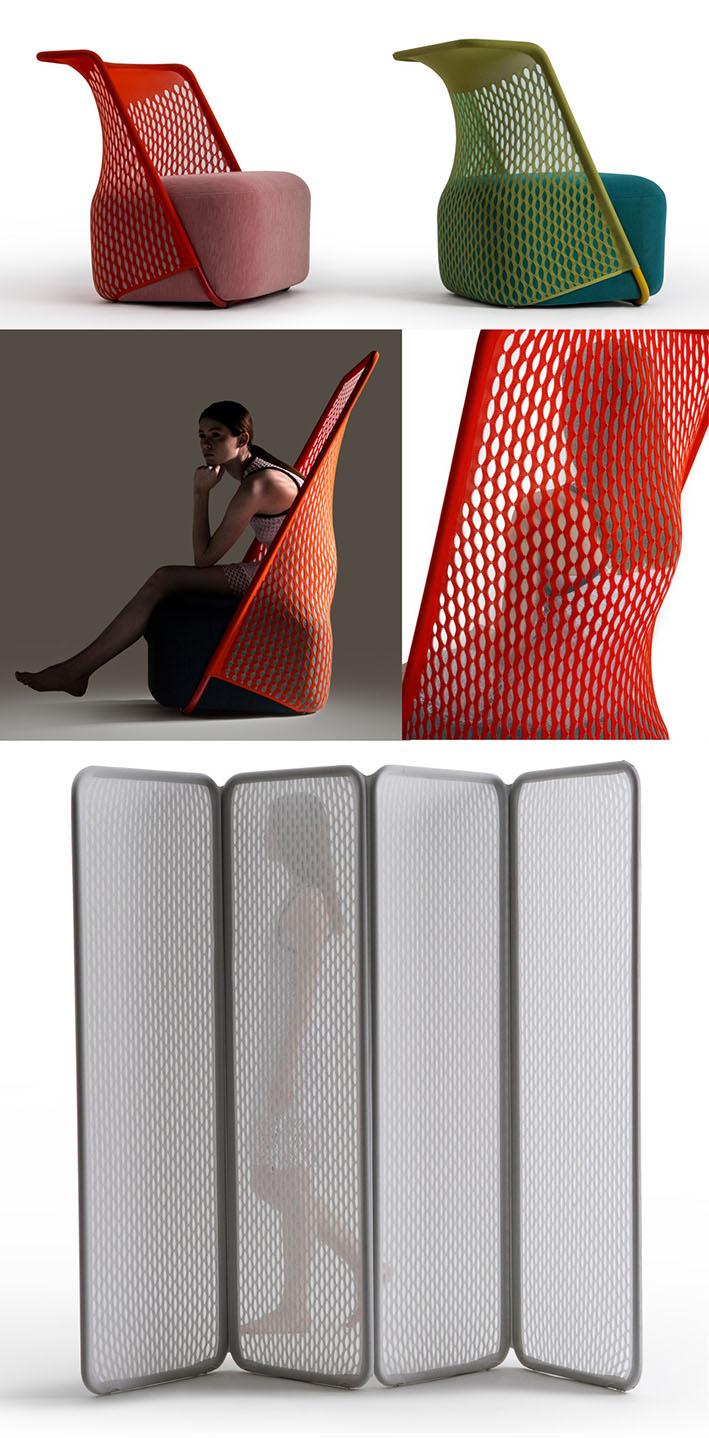 Designers criam móveis modernos com tecnologia de tricô 3D stylo urbano-3