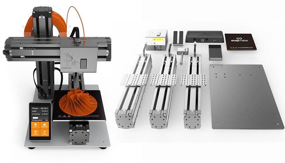A impressora 3D modular Snapmaker pode se transformar numa máquina de corte à laser ou corte CNC stylo urbano-1