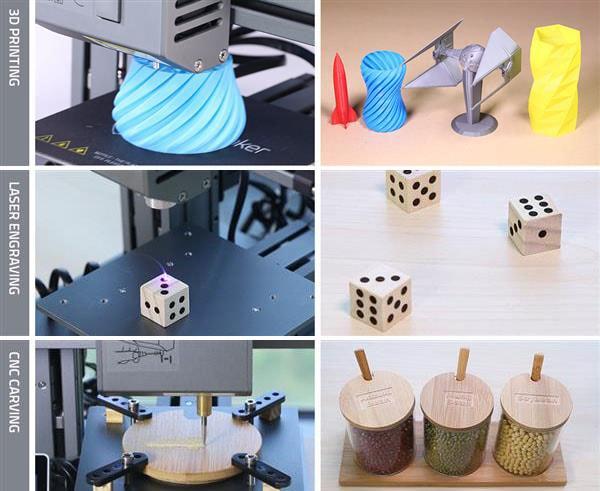 A impressora 3D modular Snapmaker pode se transformar numa máquina de corte à laser ou corte CNC stylo urbano-2
