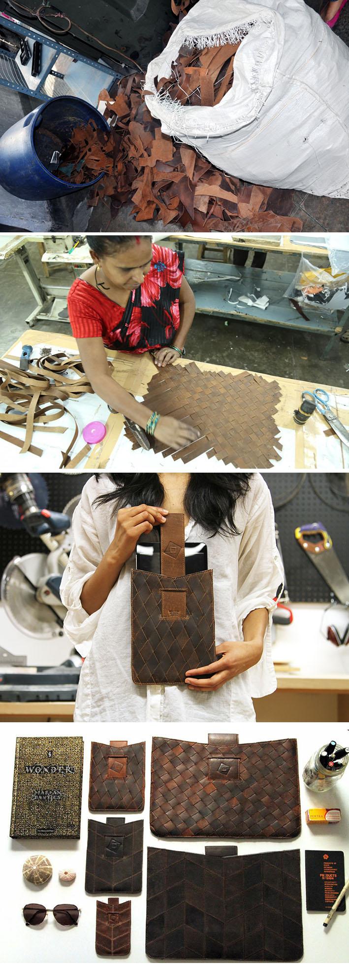 TRMTAB cria belas capas de couro upcycling para dispositivos eletrônicos stylo urbano
