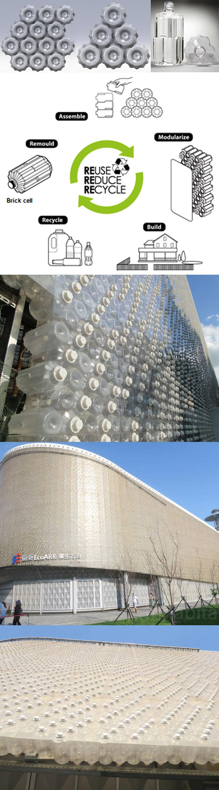EcoARK, o edifício ecológico feito com 1,5 milhão de garrafas PET recicladas stylo urbano