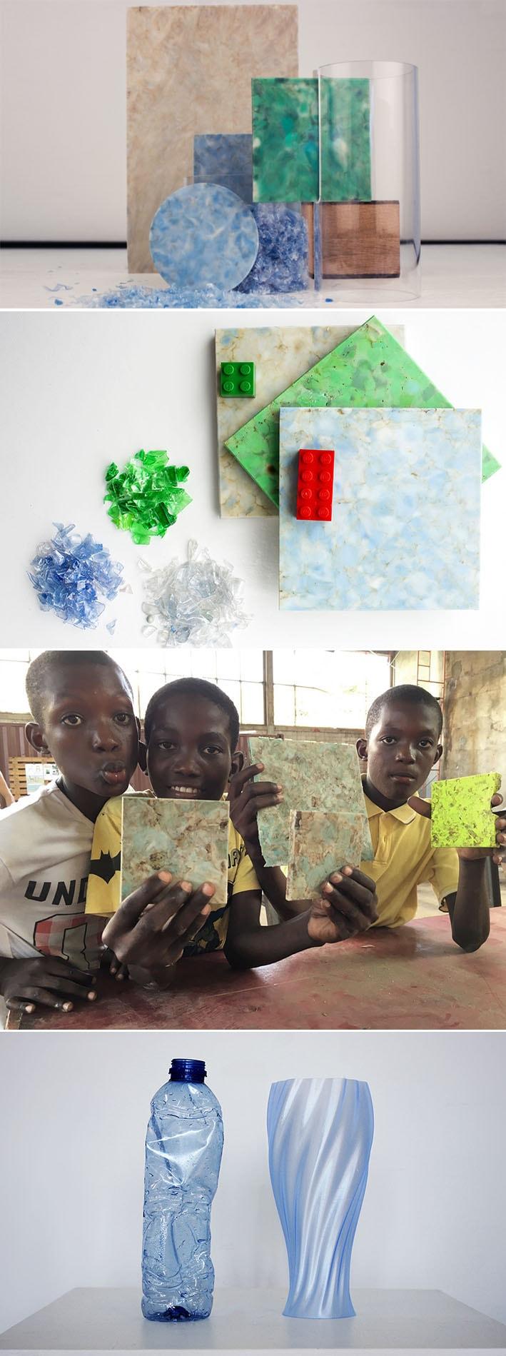 Better Future Factory transforma os resíduos de plástico em um novo mármore decorativo - 2