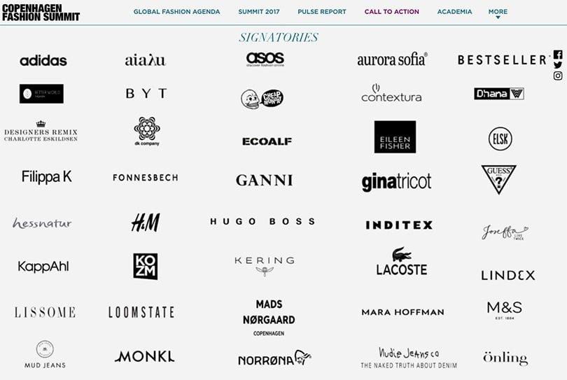143 grandes marcas de moda se unem ao Global Fashion Agenda para um futuro sustentável stylo urbano