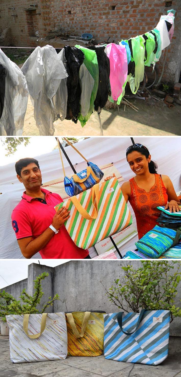 Do lixo ao luxo! Empresários indianos transformam sacolas plásticas descartadas em bolsas estilosas stylo urbano