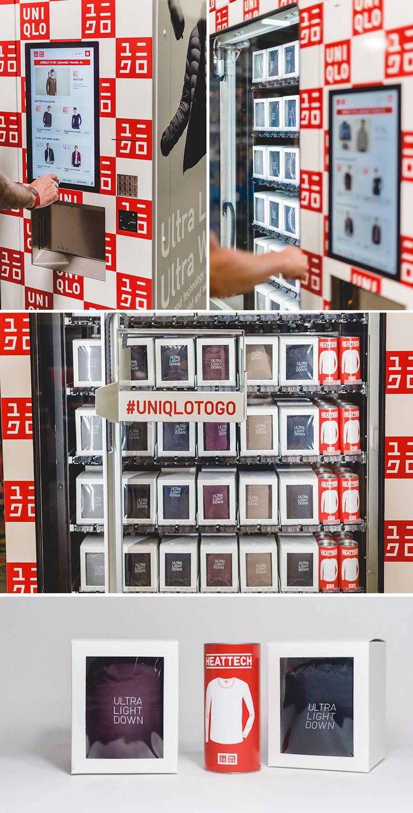 """Novo significado para o termo """"fast fashion"""" : Uniqlo lança máquinas de venda automática de roupas stylo urbano"""