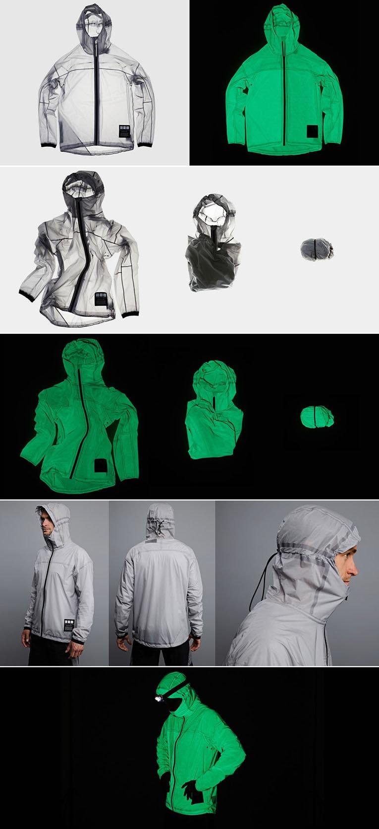 Vollebak lança jaqueta alimentada por luz solar e artificial que brilha no escuro como kryptonita stylo urbano