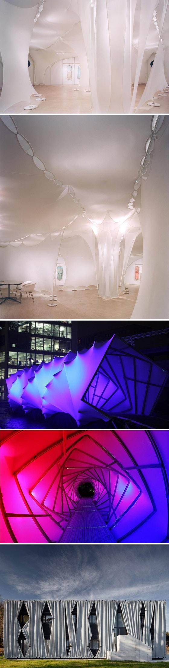 Arquitetura têxtil permite que ambientes interiores e exteriores interajam e se fundam de novas formas stylo urbano
