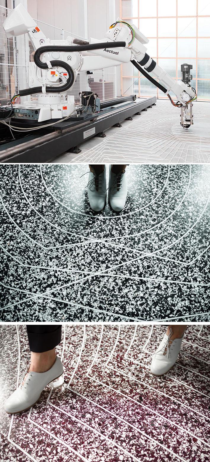 Empresa holandesa Aectual utiliza robô para impressão 3D de pisos stylo urbano