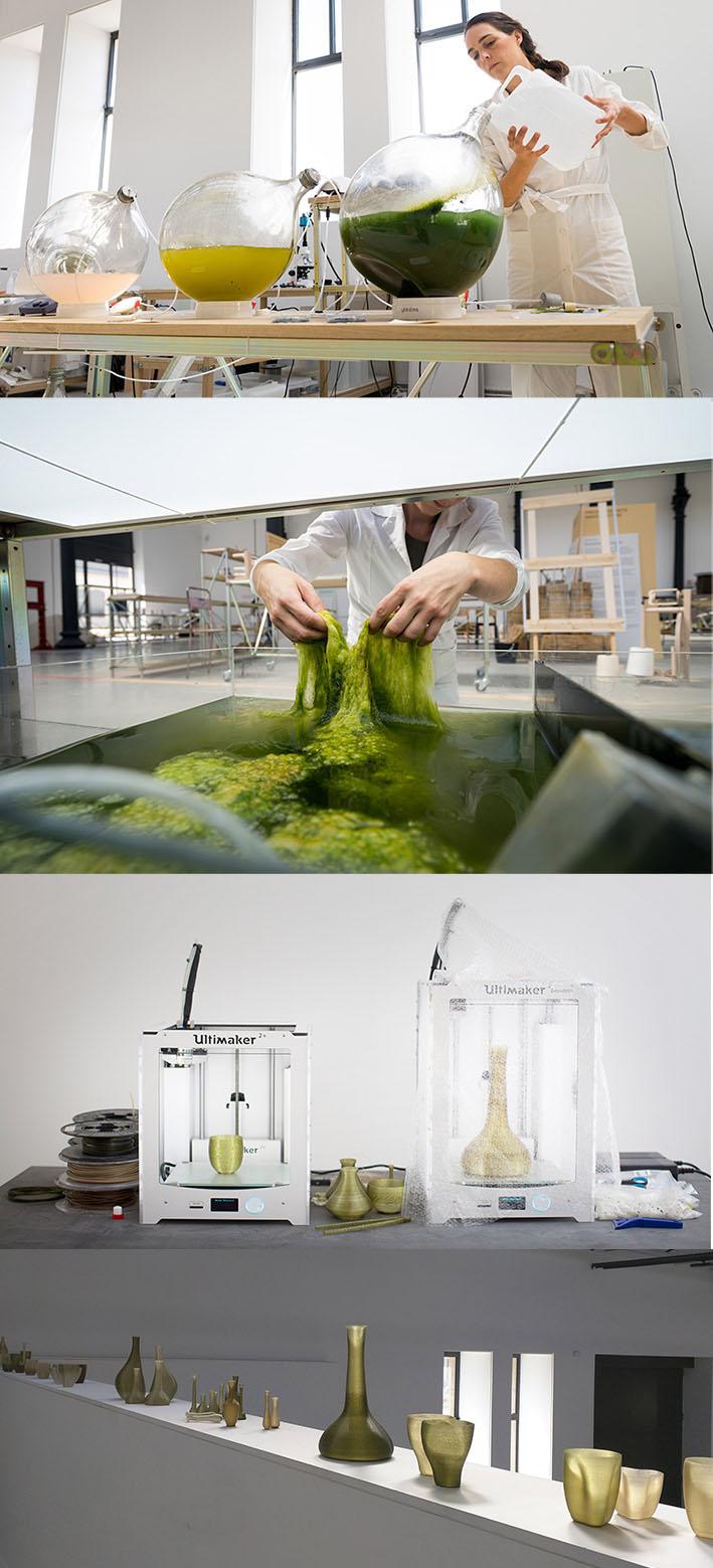 Designers holandeses criam bioplástico feito de algas para a impressão 3D sstylo urbano