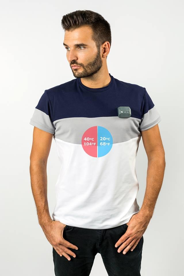 Wendu cria camiseta termorreguladora que se aquece ou esfria via smartphone stylo urbano