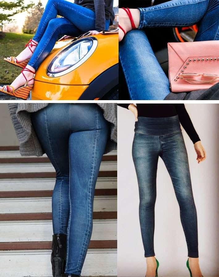 A empresa passou meses analisando as formas do corpo e desenvolvendo  padrões para as calças para alcançar a estética perfeita. Uma cintura  cônica alta e um ... 218ef2efef0