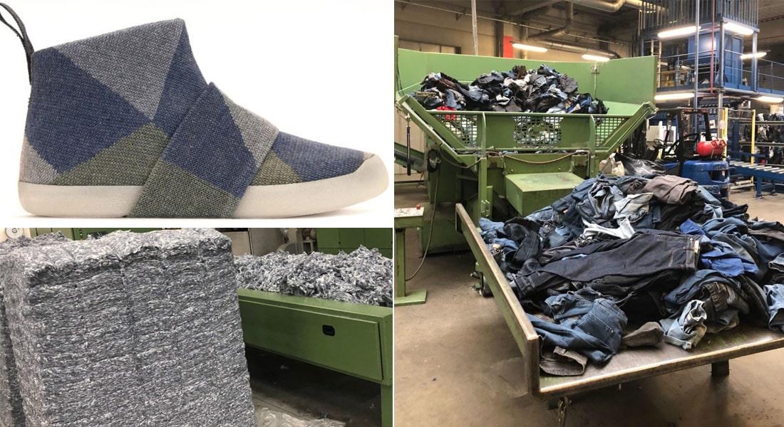 3c141e33611 O tênis circular Anna é feito com malha de jeans reciclado e solado de  impressão 3D
